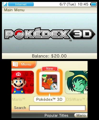 Pokédex 3D, nueva aplicación para Nintendo 3DS 6