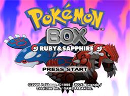 Descargar el ROM de Pokémon Box: Rubí y Zafiro