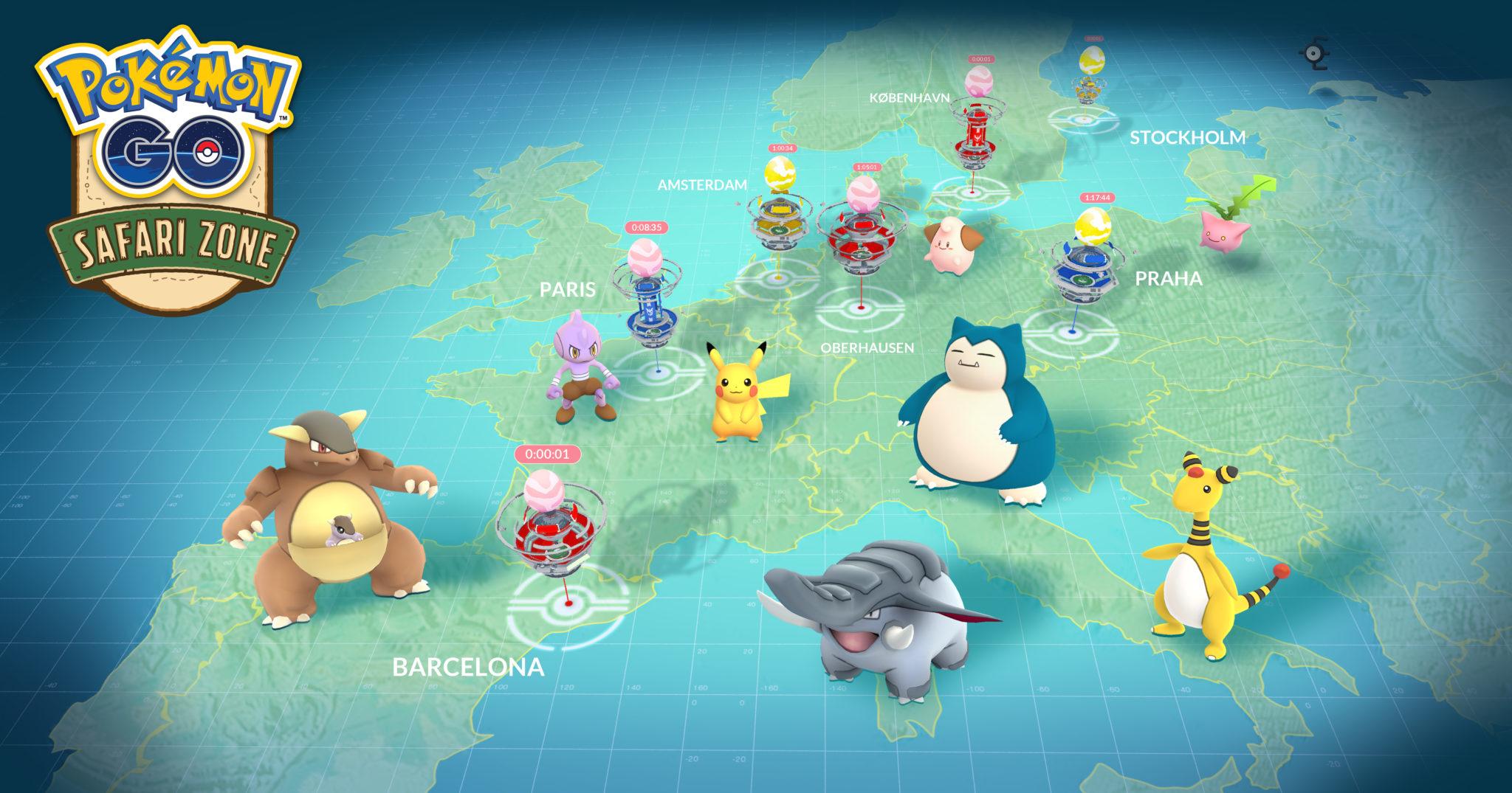 Kangaskhan y Unown en Europa
