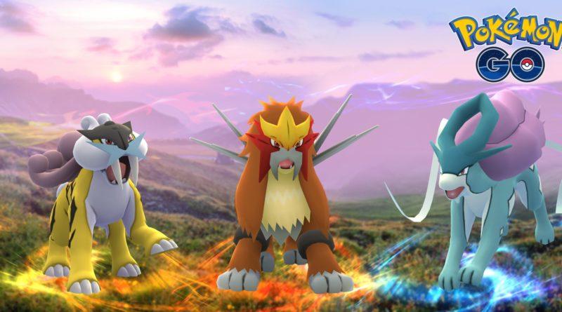 Raikou, Entei y Suicune en Pokémon GO