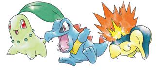 Pokémon Iniciales de Oro y Plata