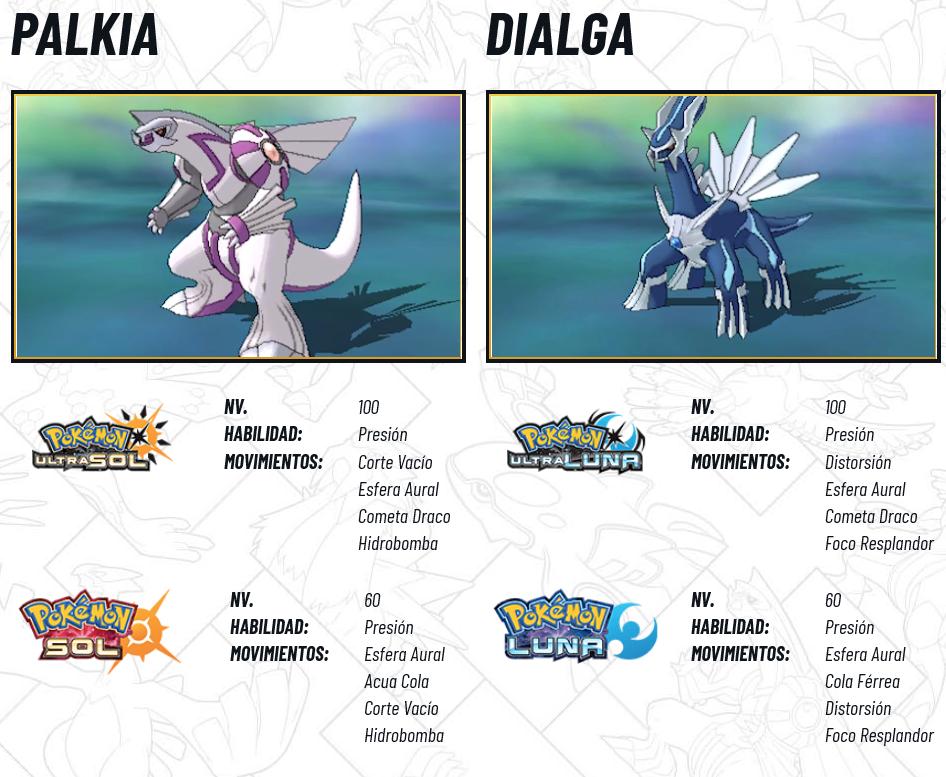 Pokémon Legendarios 2018 Febrero - Palkia y Dialga