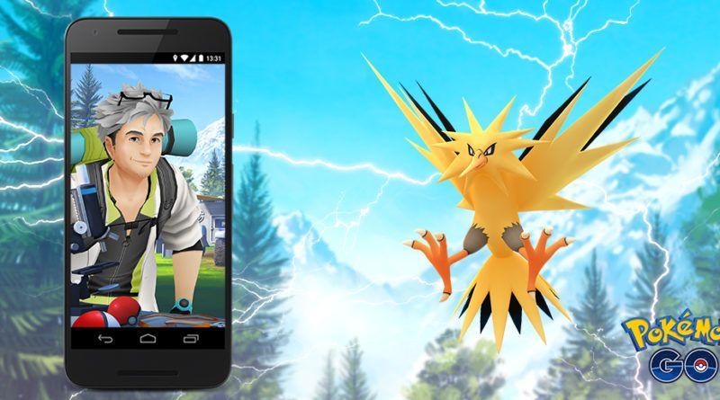 Zapdos regresa a Pokémon GO