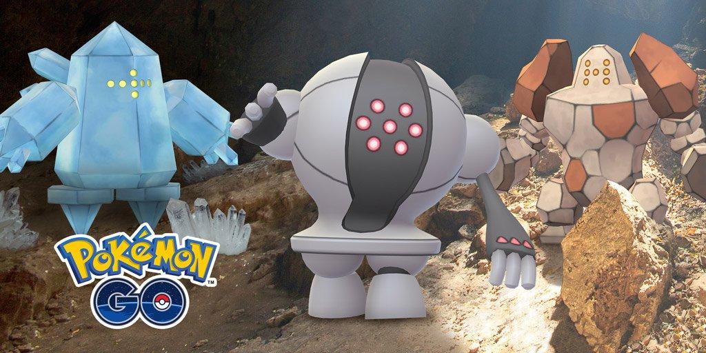 Trio de Regis en Pokémon GO