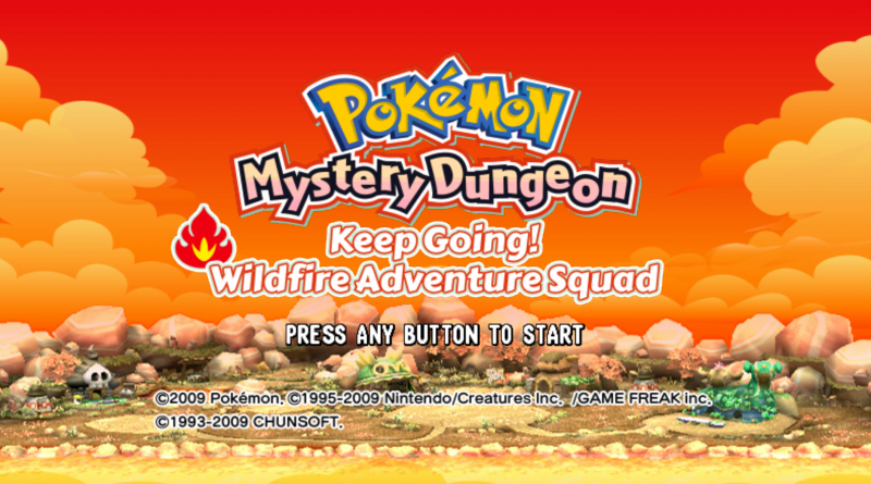 Pokémon Mystery Dungeon - Keep Going! Wildfire Adventure Squad