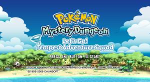 Pokémon Mystery Dungeon - Let's Go! Tempest Adventure Squad