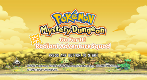 Pokémon Mystery Dungeon - Go For It! Radiant Adventure Squad